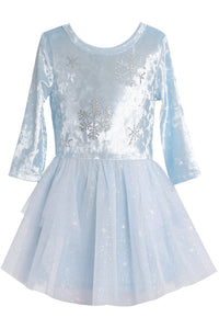 LS FROZEN SNOWFLAKE DRESS