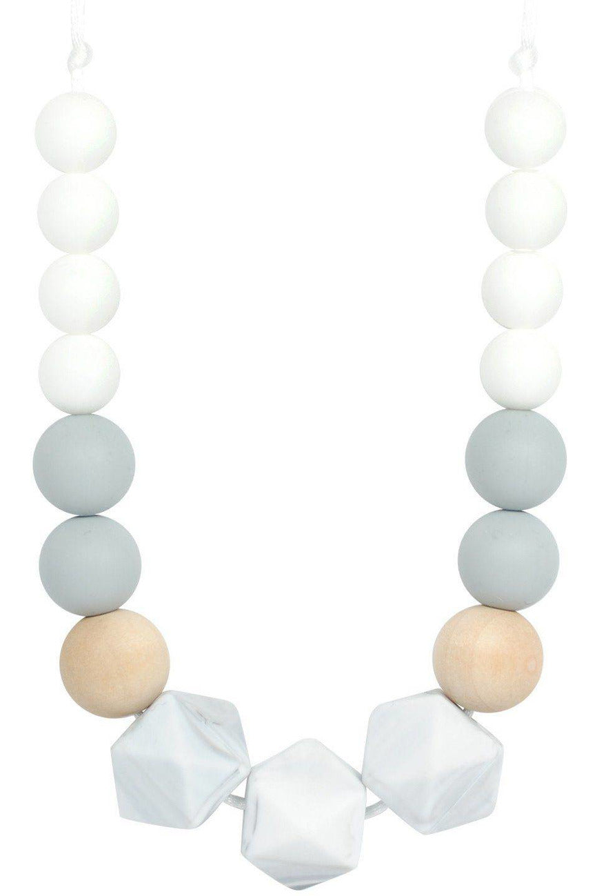 BLOCK HEX TEETHING NECKLACE - MARBLE