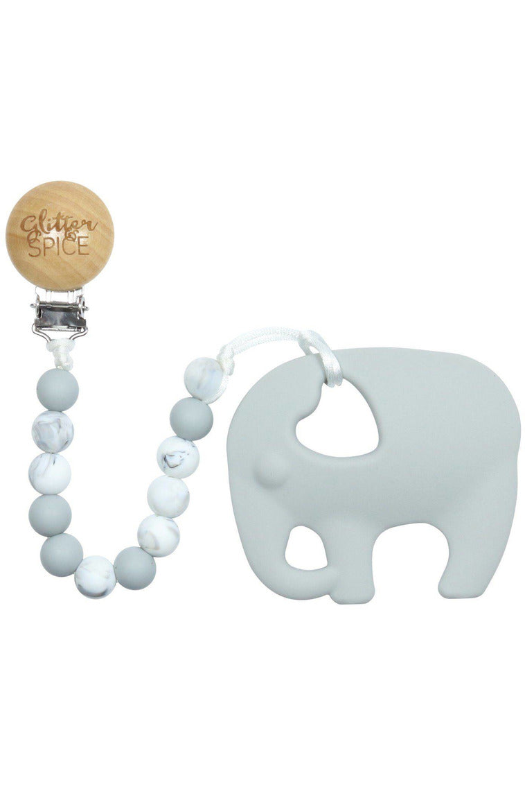 ELEPHANT TEETHER & CLIP
