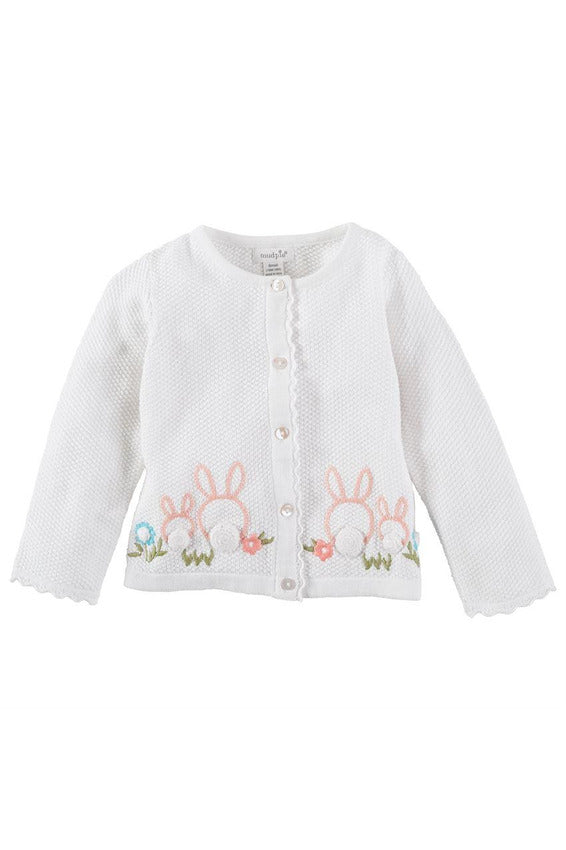 EMBROIDERED RABBIT CARDIGAN