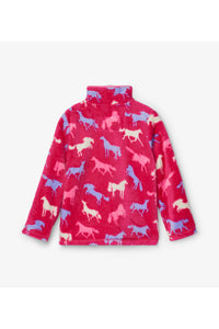 Horses Fleece Zip Jacket