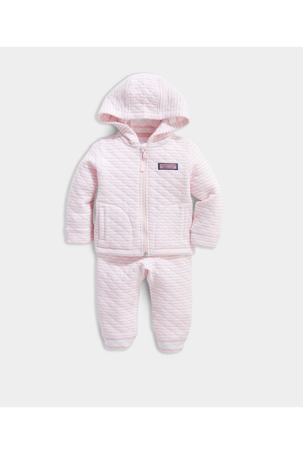 QUILTED ZIP HOODIE & PANT SET (ADDITIONAL COLORS)