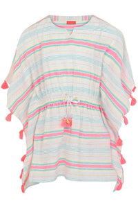 CS MULTI STRIPE TASSLE CAFTAN