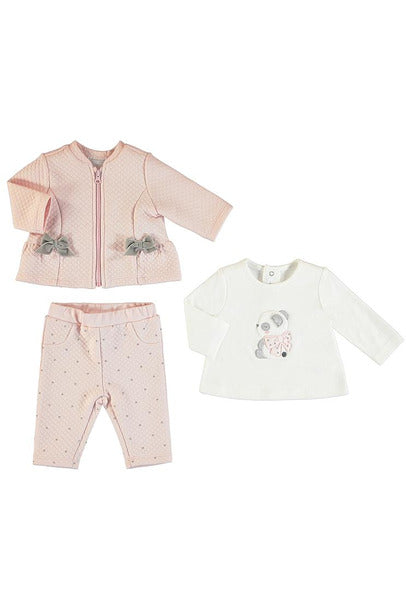 LS BOW DTL 3PC QUILTED SET