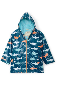 SHARKS COLOR CHANGE RAIN JACKET