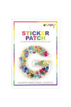 Load image into Gallery viewer, INITIAL CONFETTI STICKER PATCH *CLICK FOR INDIVIDUAL LETTERS*