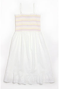 SWISS DOT SMOCKED DRESS