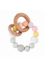 Silicone & Wood Beaded Teether