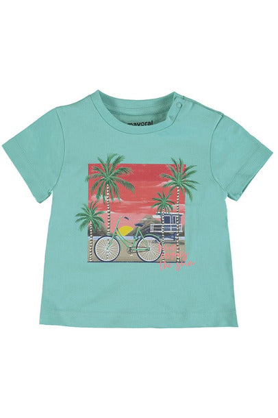 SS BEACH BIKE SUNSET TEE