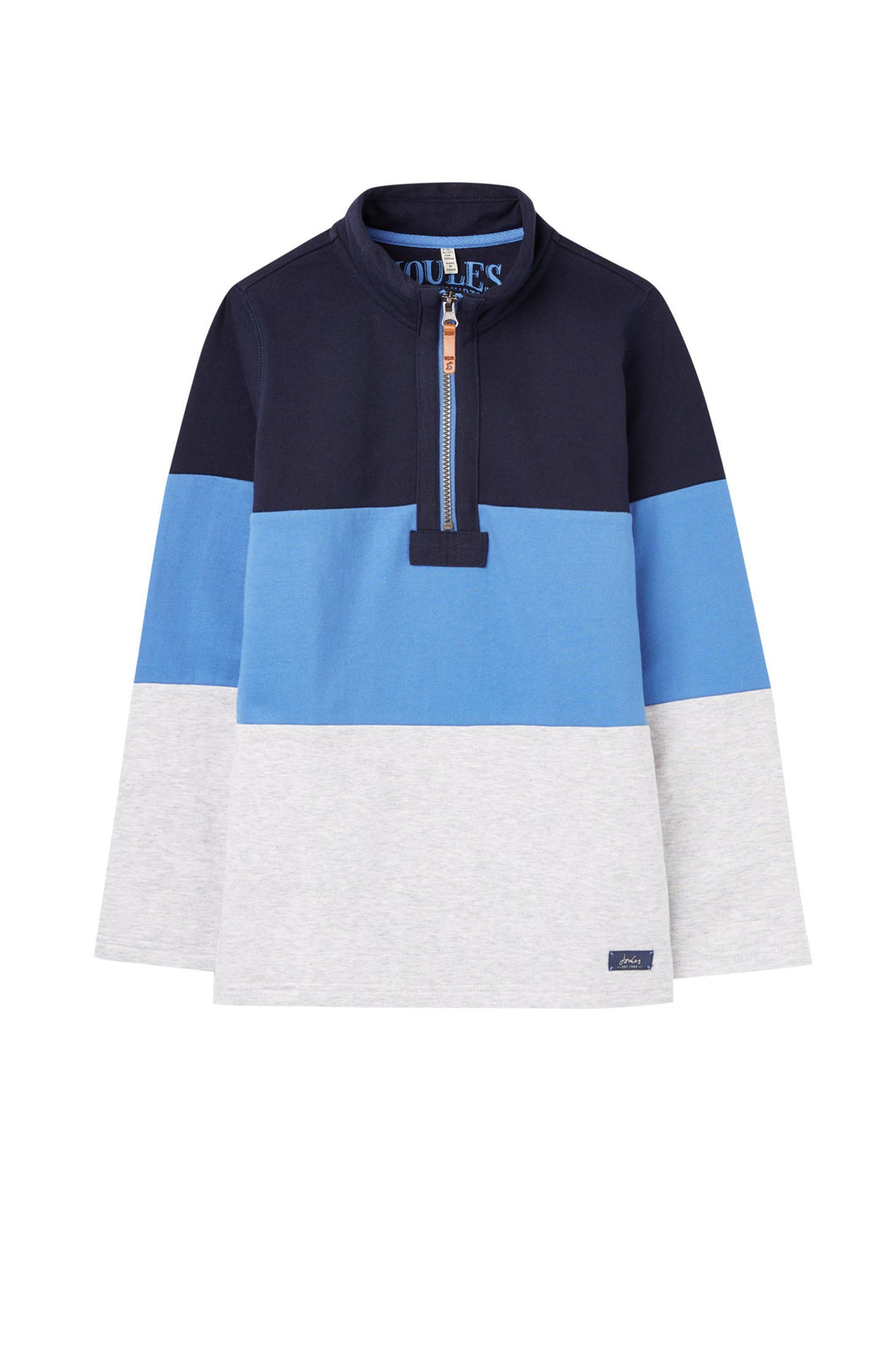 COLOR BLOCKED QUARTER ZIP SWEATSHIRT