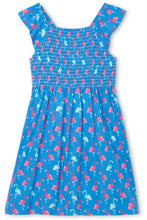 Load image into Gallery viewer, FLAMINGOS SMOCKED DRESS