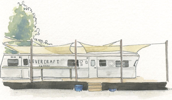 LeverCraft Coffee Shop Watercolor