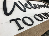 3d farmhouse sign - shiplap welcome sign housewarming real estate agent gift - Woodbott