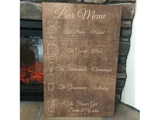 wood bar menu sign - Woodbott