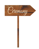 ceremony arrow sign - rustic wedding decor - Woodbott