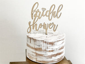 diamond bling bridal shower cake topper - Woodbott