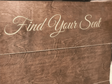 find your seat wood seating chart sign - wedding escort card holder - Woodbott