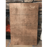 rustic seating chart sign - wedding place card holder - Woodbott