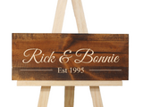 personalized name sign with wedding established date wedding gift - Woodbott