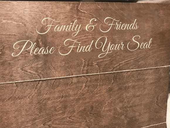 friends and family please find your seat wedding seating chart sign - Woodbott