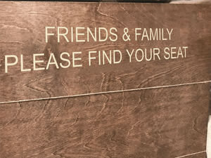 engraved wood seating chart sign - rustic wedding decor - Woodbott