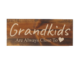 rustic grandkids are always close to heart sign - Woodbott