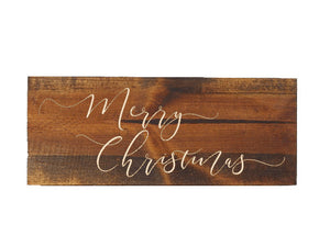wood merry christmas sign - rustic christmas decor - Woodbott