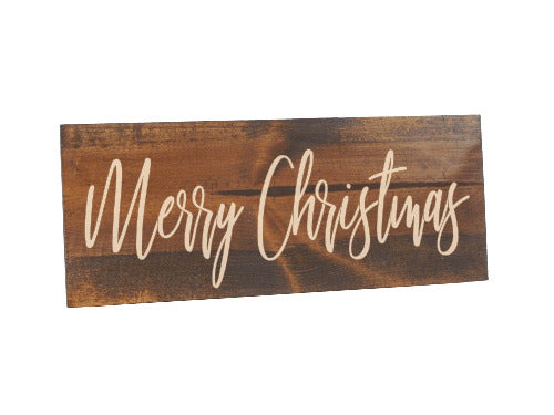 rustic merry christmas sign - holiday home decor - Woodbott