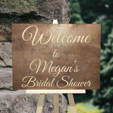Personalized Bridal Shower Welcome Sign