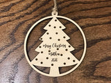 personalized christmas ornaments - Woodbott