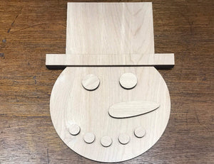snowman diy sign making kit - Woodbott