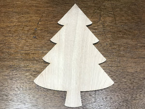 "16"" wood blank christmas tree - Christmas sign making supplies - Woodbott"