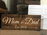 personalized wood sign - christmas gift for parents - Woodbott