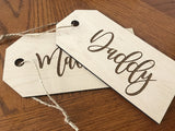 personalized name gift tags - Woodbott