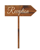 rustic reception arrow sign - rustic wedding sign - Woodbott