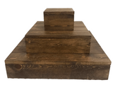 wood wedding cake stand - tiered rustic wedding cupcake stands - Woodbott