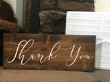 thank you wedding gift table sign - Woodbott