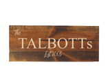 personalized last name sign - family name decor - Woodbott