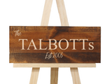 custom last name sign - family established date sign - Woodbott