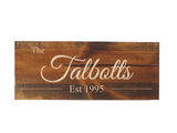 personalized family name sign - Woodbott
