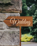 rustic wedding arrow sign - direction wedding signs - Woodbott