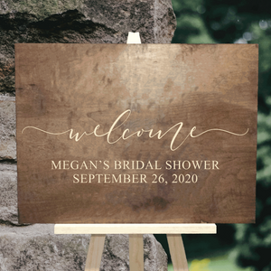 custom bridal shower welcome sign - Woodbott