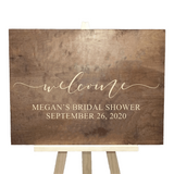 personalized wood bridal shower sign - rustic bridal shower decor - Woodbott