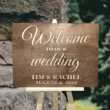 rustic welcome to our wedding sign - wood wedding decor - Woodbott