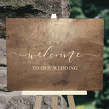 wood welcome to our wedding sign - Woodbott