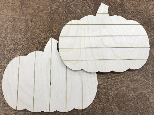 shiplap wood pumpkin blanks for sign making supplies - Woodbott