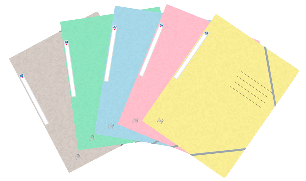 Oxford Top File + # elastomap A4 assorti pastel