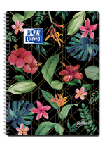 OXFORD Botanical Twin Wire A4+ ruled 80 pages 90g soft card cover
