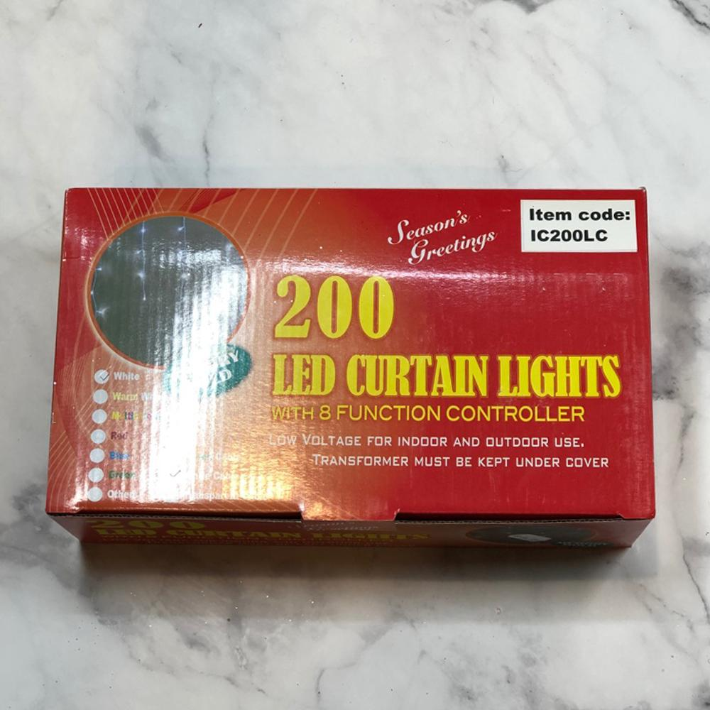 200 LED Curtain lights - Warm White - My Christmas