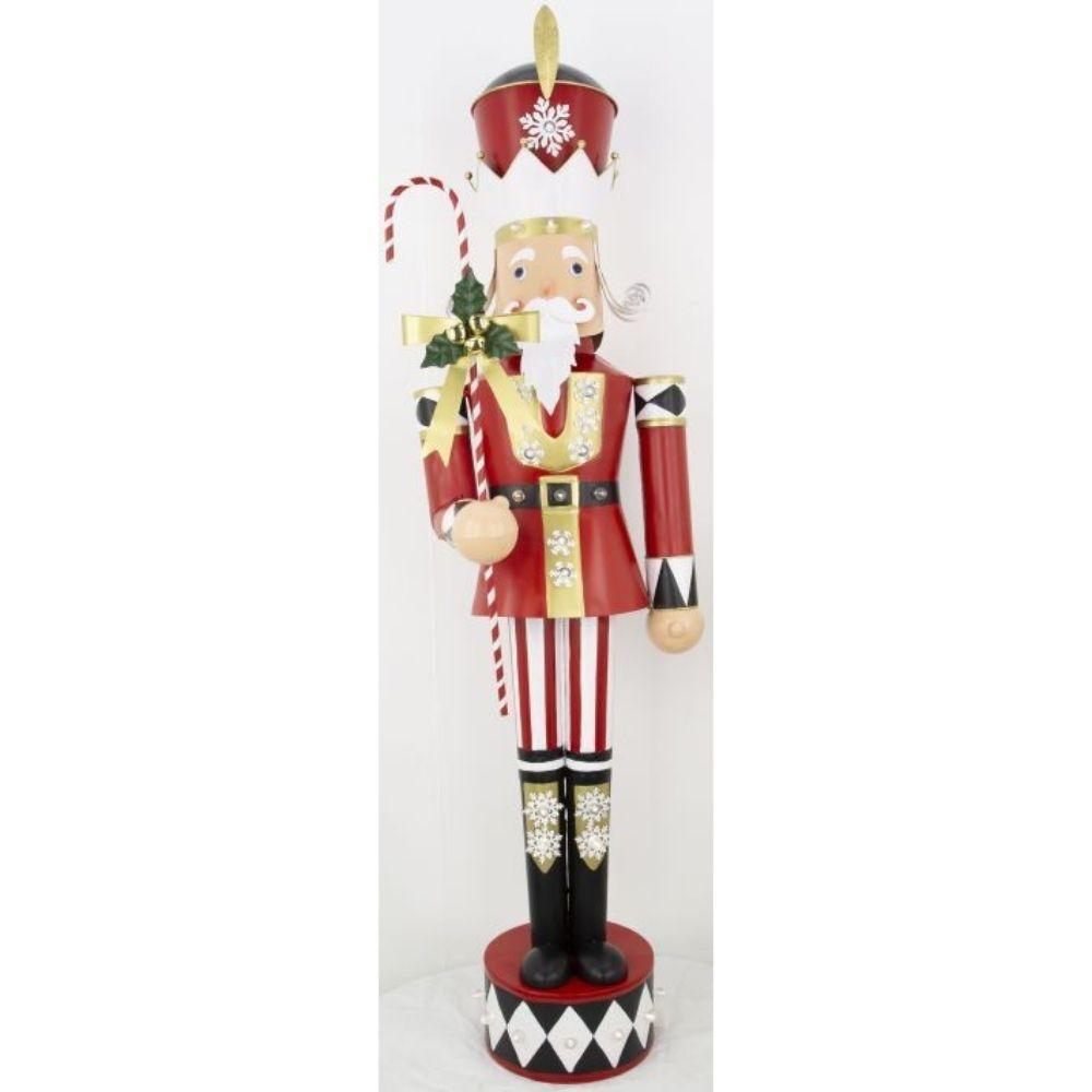 Nutcracker with Candy Cane, 152cm